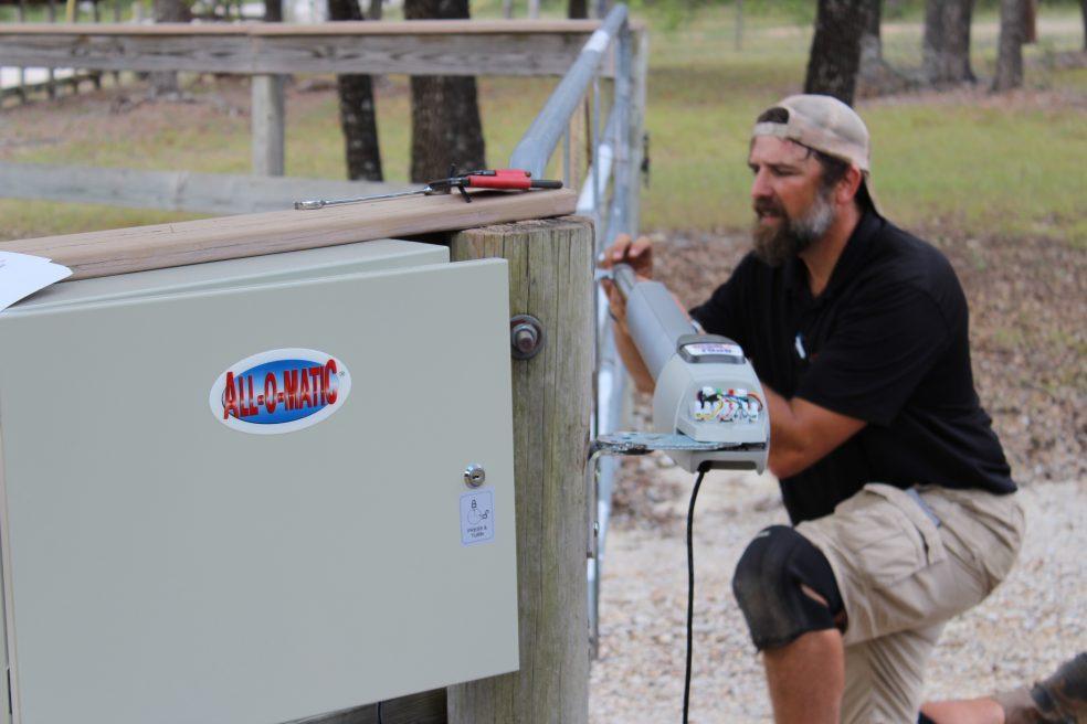 All-o-matic Solar Gate Opener Installation Wimberley TX